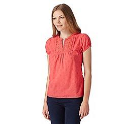 RJR.John Rocha - Designer peach textured crochet blouse