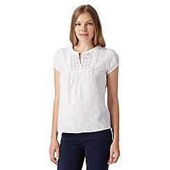 RJR.John Rocha - Designer white textured crochet blouse