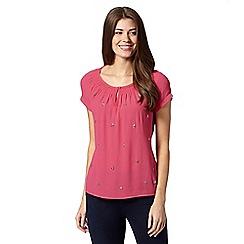 RJR.John Rocha - Designer pink embellished gypsy top