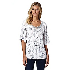RJR.John Rocha - Designer white meadow print gypsy top