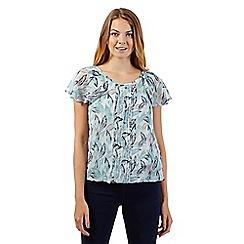 RJR.John Rocha - Designer light turquoise pintuck blouse