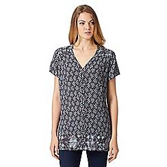 RJR.John Rocha - Designer dark grey tiled print shirt