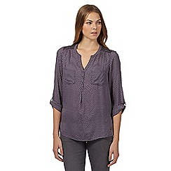 RJR.John Rocha - Designer dark grey spotted lace shoulder shirt