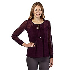 RJR.John Rocha - Purple 2-in-1 self tie neckline boho top