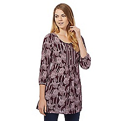 RJR.John Rocha - Purple floral tunic top