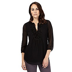 RJR.John Rocha - Black lace detail top