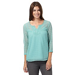 RJR.John Rocha - Turquoise embellished textured spot top