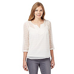 RJR.John Rocha - Ivory embellished top with cami