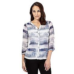 RJR.John Rocha - White landscape print blouse