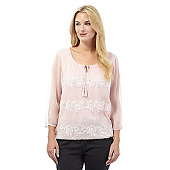 RJR.John Rocha - Light pink floral embroidered top