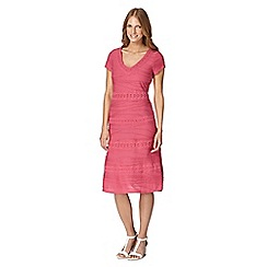 RJR.John Rocha - Designer pink ripple and lace dress