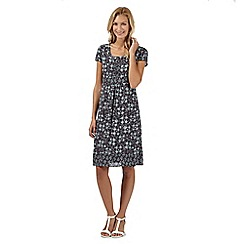 RJR.John Rocha - Designer dark grey crepe ikat dress