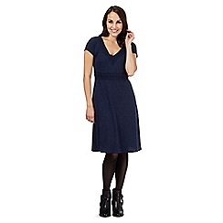 RJR.John Rocha - Navy jacquard floral dress