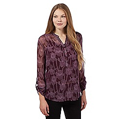 RJR.John Rocha - Purple floral chiffon shirt and vest top set