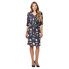 RJR.John Rocha - Designer dark grey tree print shirt dress