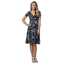 RJR.John Rocha - Designer navy floral knot waist dress