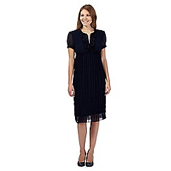 RJR.John Rocha - Navy ruffle trim dress