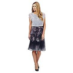 RJR.John Rocha - Purple landscape woven dress