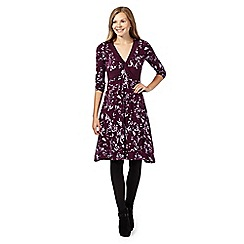 RJR.John Rocha - Dark purple leaf print dress