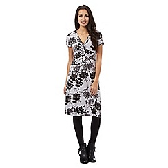 RJR.John Rocha - Grey floral printed midi dress
