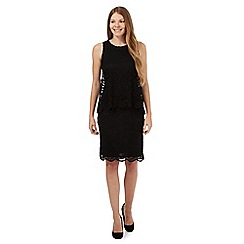 RJR.John Rocha - Black tiered lace dress