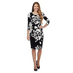 RJR.John Rocha - Black paint splash jersey dress