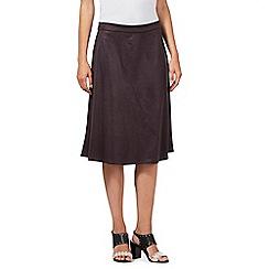 RJR.John Rocha - Designer chocolate suedette skirt