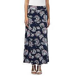 RJR.John Rocha - Designer navy floral maxi skirt
