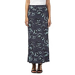 RJR.John Rocha - Designer grey floral maxi skirt