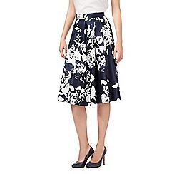 RJR.John Rocha - Navy floral prom skirt