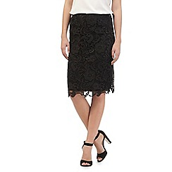 RJR.John Rocha - Black woven lace shift skirt
