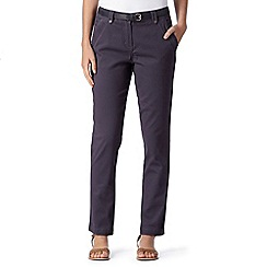 RJR.John Rocha - Designer dark grey belted chino trousers