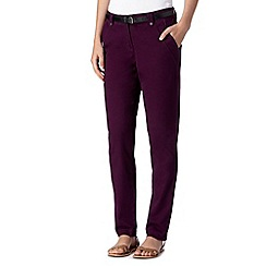 RJR.John Rocha - Designer grape belted chino jeans