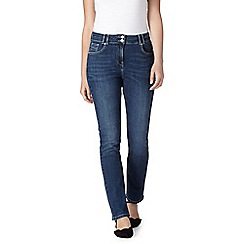 RJR.John Rocha - Designer mid blue high waisted slim fit jeans