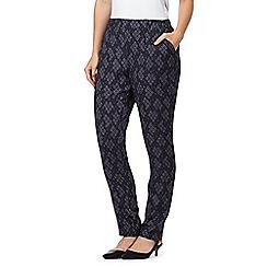 RJR.John Rocha - Designer dark grey ikat woven print trousers