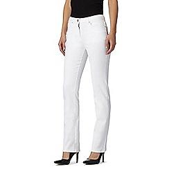 RJR.John Rocha - Designer white straight leg jeans