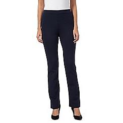 RJR.John Rocha - Navy ponte straight leg trousers
