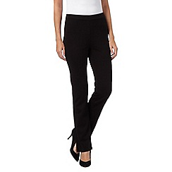 RJR.John Rocha - Black ponte straight leg trousers