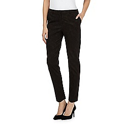 RJR.John Rocha - Black floral textured trousers