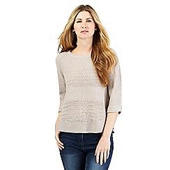RJR.John Rocha - Taupe textured knitted jumper