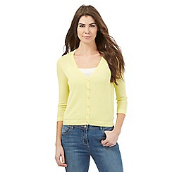RJR.John Rocha - Yellow sheer cardigan