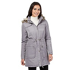 RJR.John Rocha - Grey fur trim parka coat