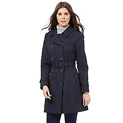 RJR.John Rocha - Navy mac coat