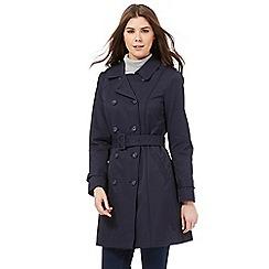 RJR.John Rocha - Navy mac coat