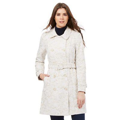 RJR.John Rocha Taupe lace mac coat