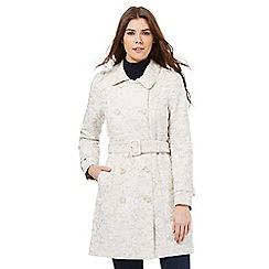 RJR.John Rocha - Taupe lace mac coat