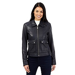 RJR.John Rocha - Navy leather jacket