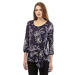 RJR.John Rocha - Plum floral tie side top