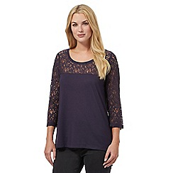RJR.John Rocha - Plum lace three quarter sleeve top