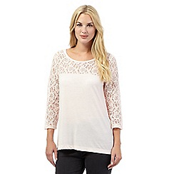RJR.John Rocha - Pink pleated floral lace top